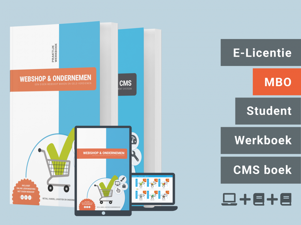 Webshop & Ondernemen   Student bundel   licentie + 2 boeken   MBO