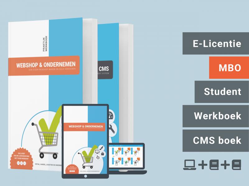 Webshop & Ondernemen | Student bundel | licentie + 2 boeken | MBO