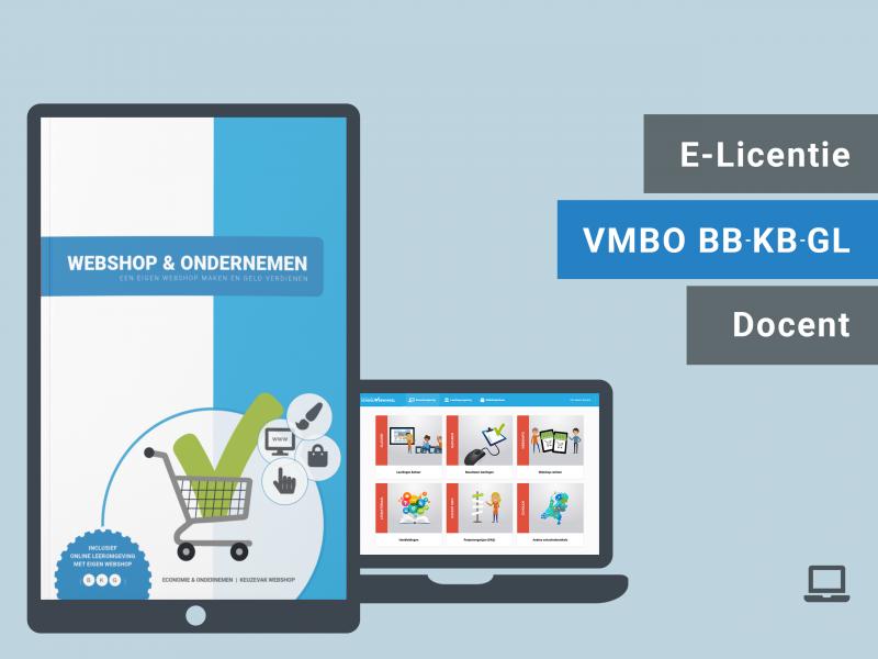 VMBO BB BK GL | Docent e-licentie | Webshop & Ondernemen