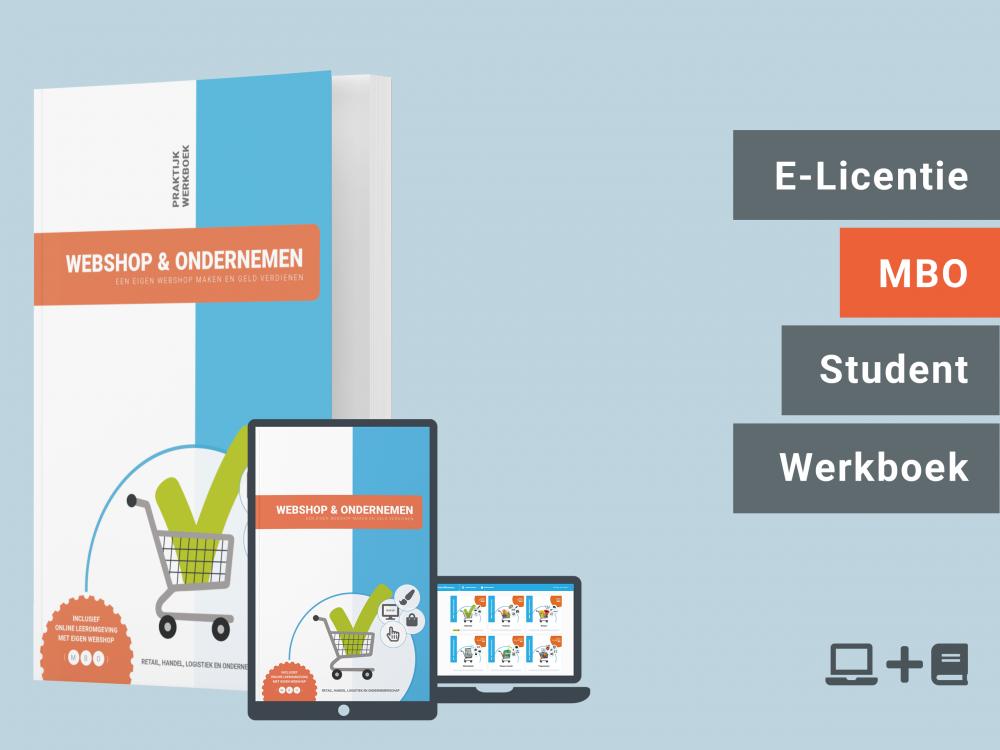 Webshop & Ondernemen | Student licentie + werkboek | MBO