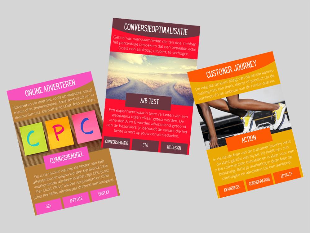 Online Marketing Kwartet   spel