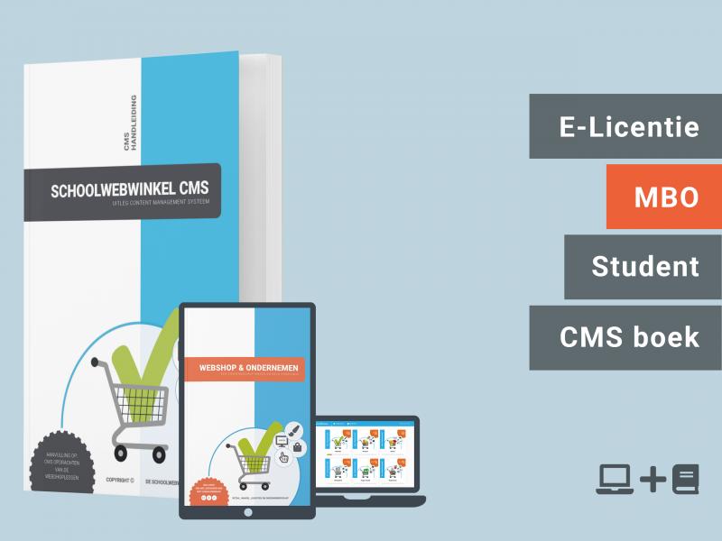 Webshop & Ondernemen | Student licentie + CMS boek | MBO