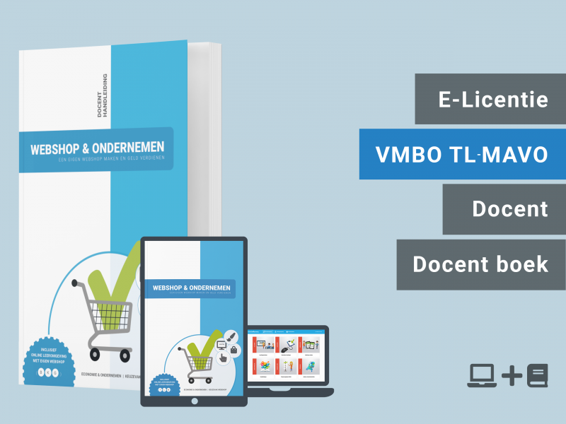 Webshop & Ondernemen | Docent licentie + docent boek | TLM