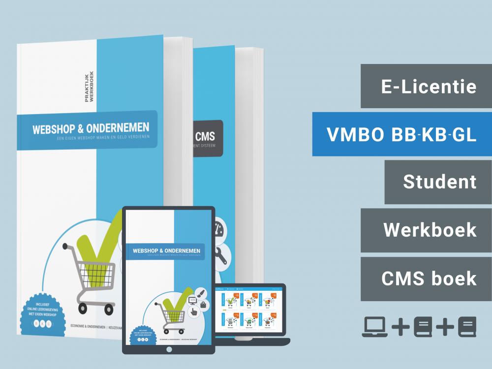 Webshop & Ondernemen | Leerling bundel | licentie + 2 boeken | BKG