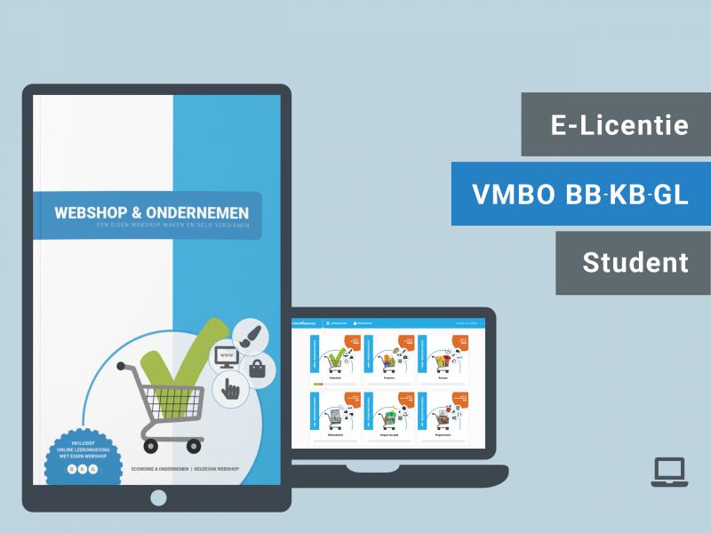 VMBO BB BK GL | Leerling e-licentie | Webshop & Ondernemen