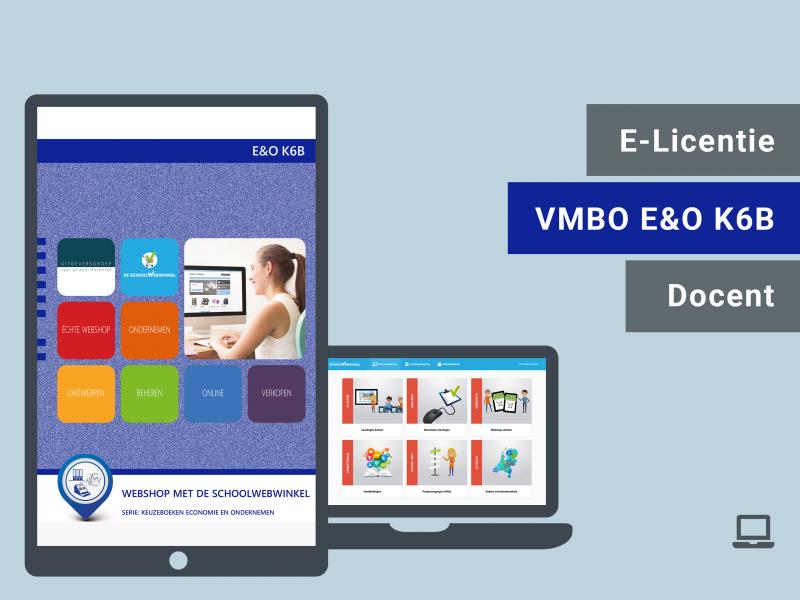 Webshop met De Schoolwebwinkel | E&O K6B | Docent licentie | VMBO