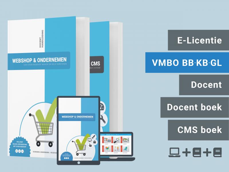 Webshop & Ondernemen | Docent bundel | licentie + 2 boeken | BKG