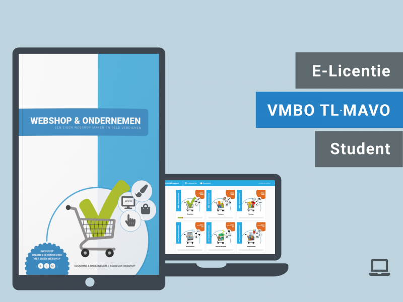 Webshop & Ondernemen | Leerling licentie | TLM